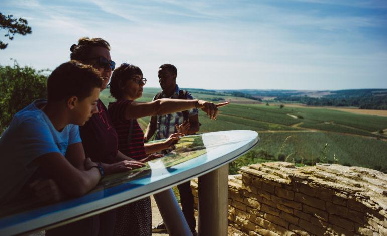 Vue panoramique sur les climats de Chablis