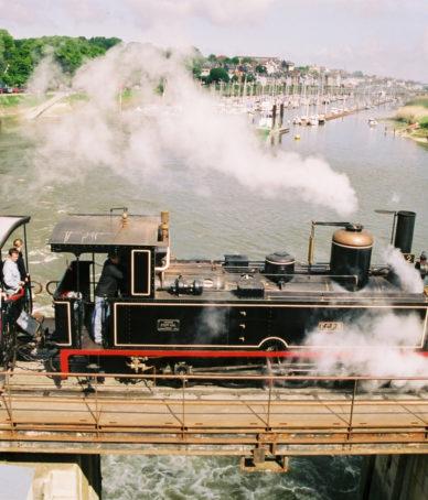 Train a vapeur baie de somme