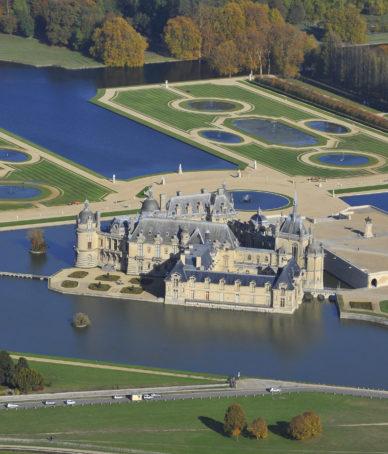 Château de Chantilly - Vue aérienne